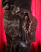 Leather Leg Belt ~ Flames