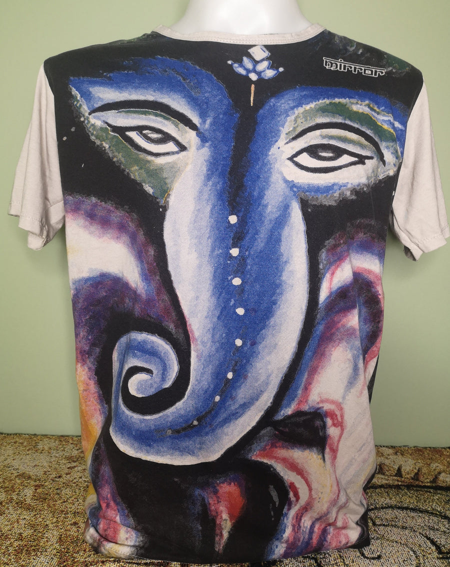Mirror ~ Blue Ganesh (Sizes M & L)