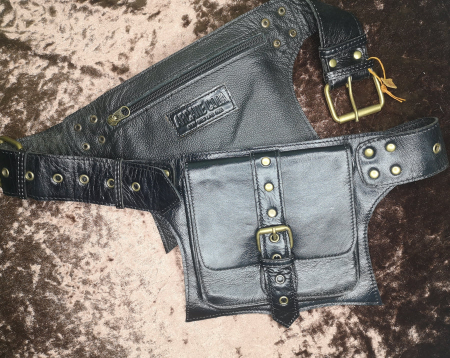 Matrix, Black Leather, Large Pockets, Utility Belt