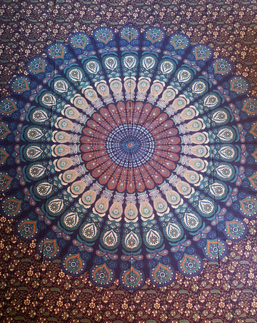 Mandala Magic Surrounded by Flowers & Leaves