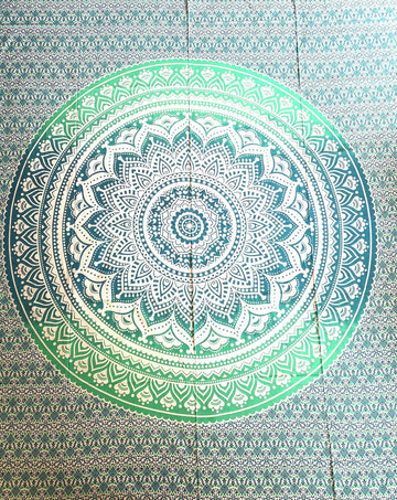 indian tapestry, bed cover, mandala