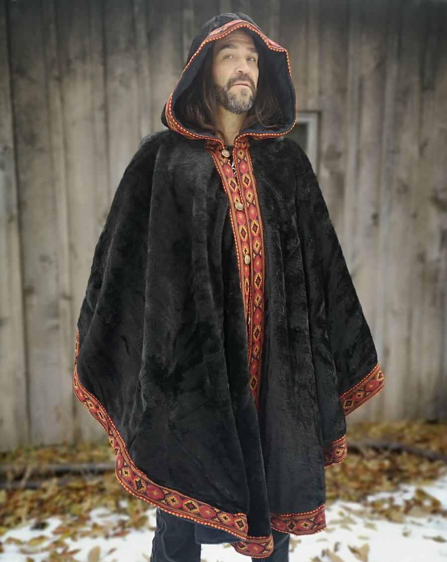 high-pile plush fleece, cloak, cape, cosplay, warrior, warm blanket, original camping gear, cloak blanket