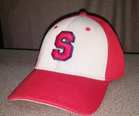Red/Grey Embroidered Southern hat