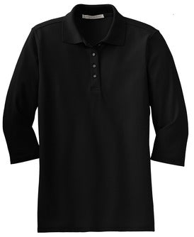 Ladies 3/4 Sleeve Silk Touch Polo