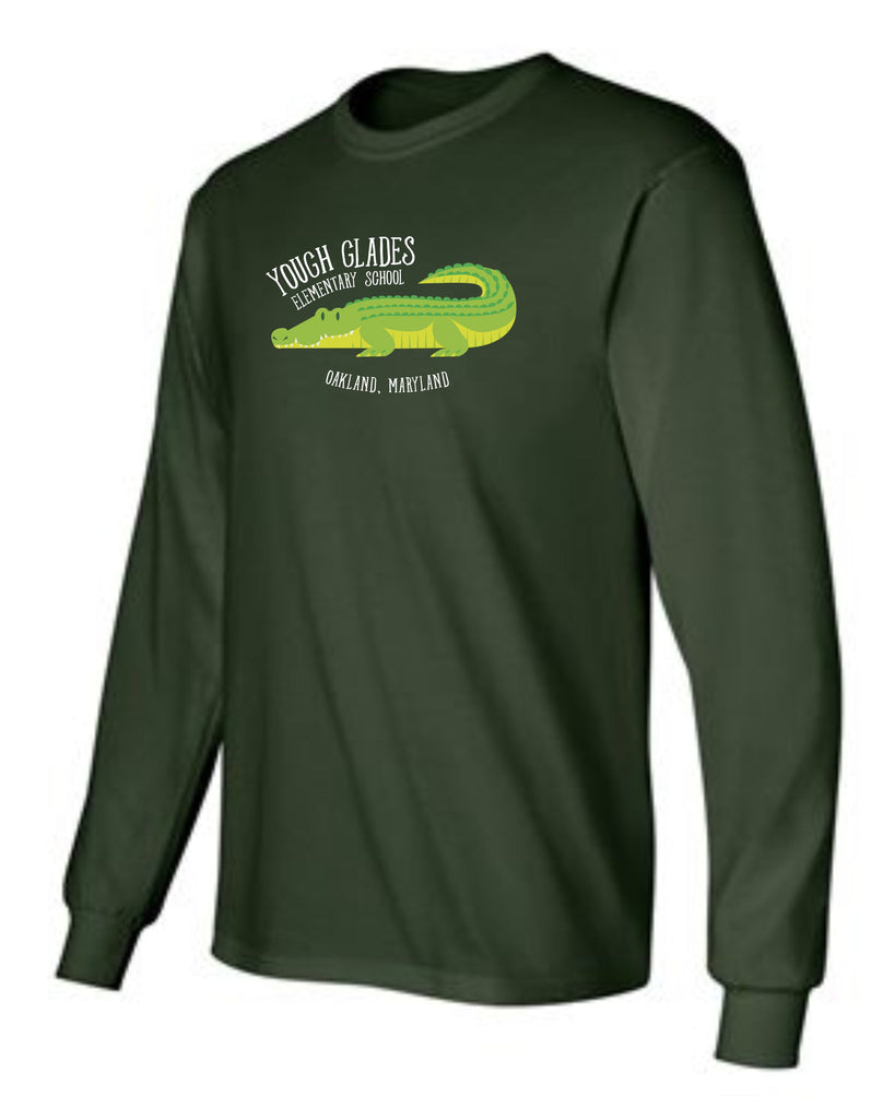 Yough Glades Forest Green Long Sleeve T-Shirt