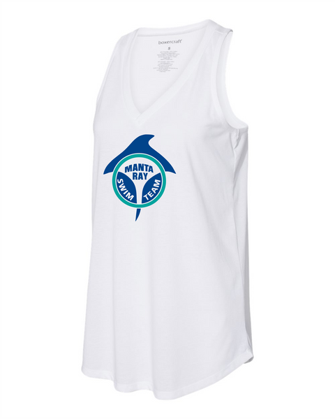 Manta Ray White tank top