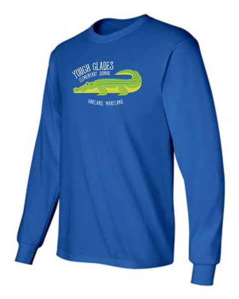 Yough Glades Royal Blue Long Sleeve T-Shirt