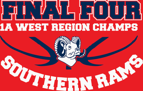 Southern Rams Final Four 1A West Region Champs Tshirt