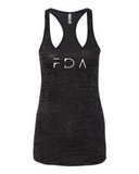FDA Burnout racerback tank top