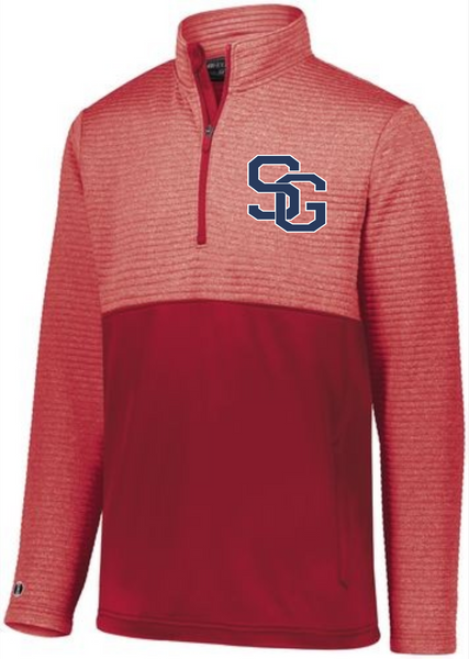 Southern SG Embroidered Holloway Red Performance 1/4 Zip