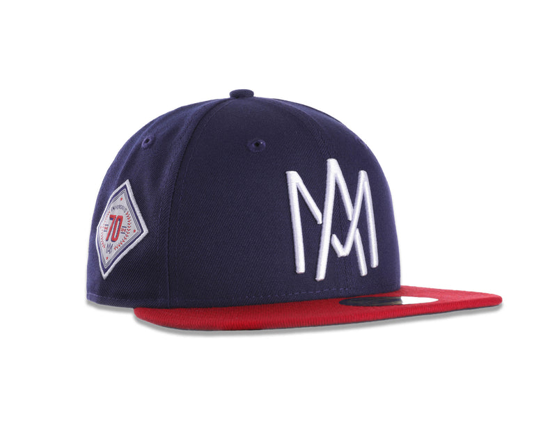GORRA ÁGUILAS NEW ERA AZUL/ROJO 2018 LOGO AM CACHANILLA 59FIFTY