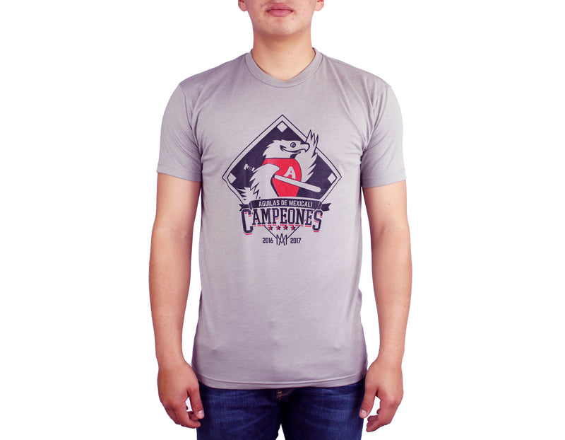 Playera Adulto Campeon Conmemorativo Gris