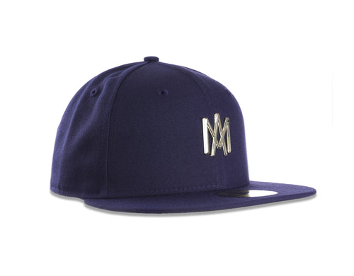 GORRA ÁGUILAS NEW ERA AZUL 2018 LOGO AM METAL ORO 59FIFTY
