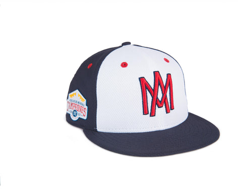 GORRA 59FIFTY CAMPEONATO MARINO/BLANCO AM ROJO
