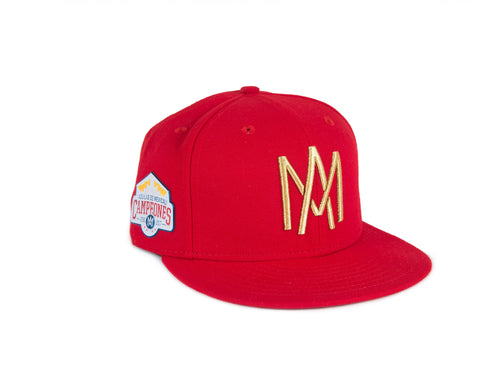 GORRA 59FIFTY CAMPEONATO ROJO AM DORADO