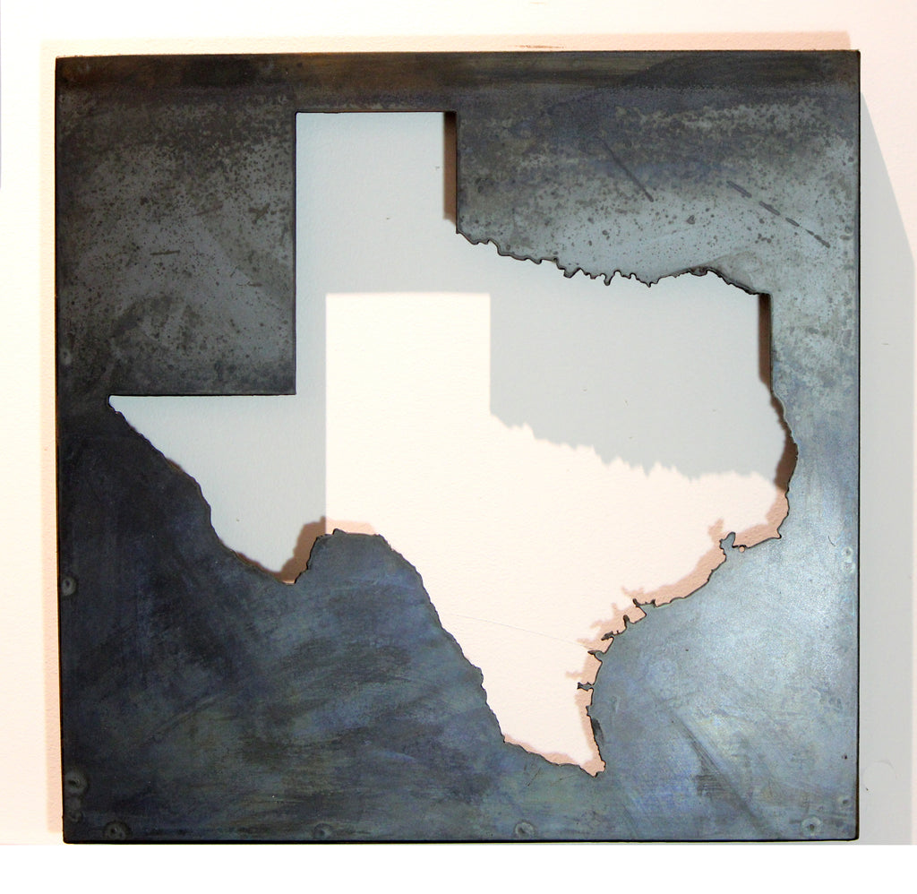 "Texas cut out of steel 1.5x16x16"" - Arc Academy"