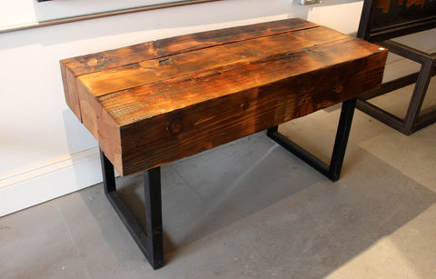 1840 Creative bench steel legs on reclaimed wood - Arc Academy