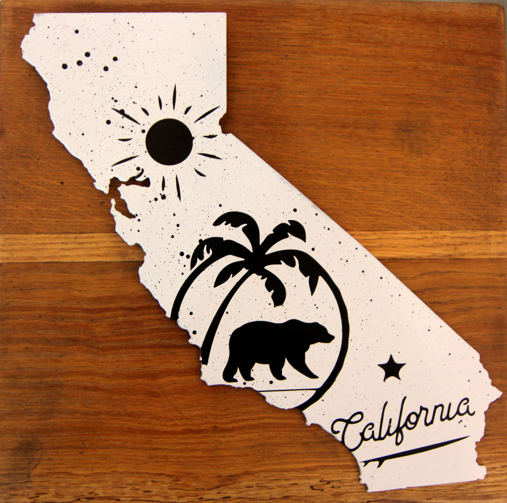 California - Black and White print on steel - Arc Academy