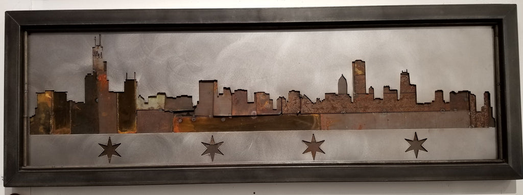 Chicago skyline 4 star rusty strip backing - Arc Academy