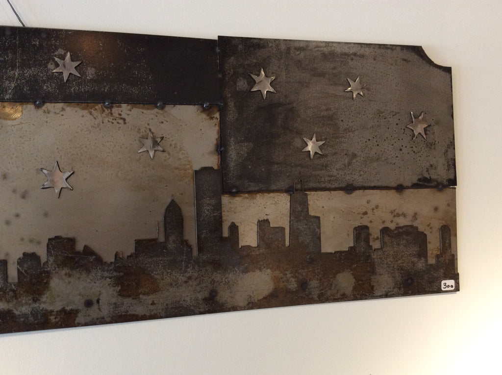 Chicago Skyline - Rustic Metal - Arc Academy