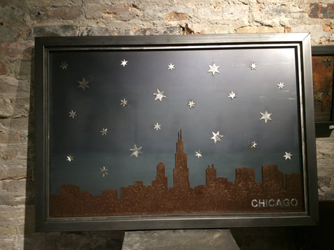 Chicago Skyline with Starry night background - Arc Academy