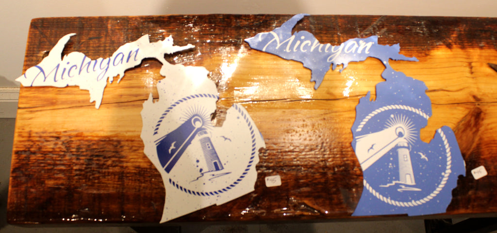 "White Michigan with Lighthouse print 11"" - Arc Academy"