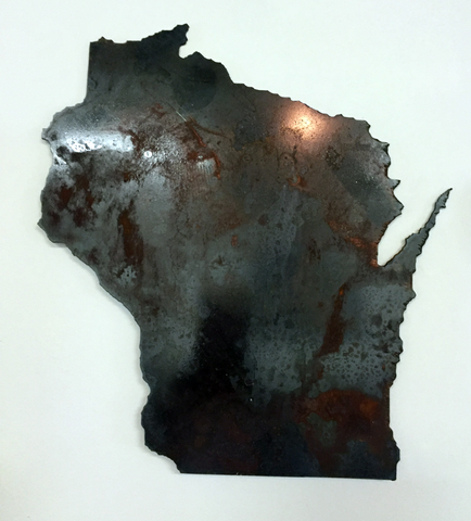 Wisconsin - Tarnished Steel Outline - Arc Academy