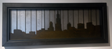 Chicago Skyline Light Rust Patina raised off Striped - Arc Academy