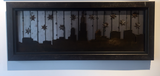 Starry night Chicago Skyline rusted striped backgroud - Arc Academy
