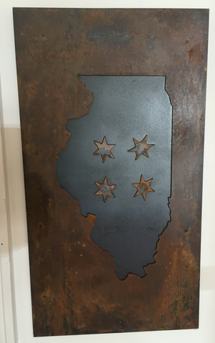 Illinois 4 Stars - Negative Rust Patina - Arc Academy