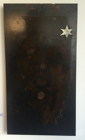 Illinois Chicago Star Steel Wall Art - Arc Academy