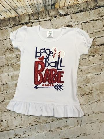 Baseball Babe Appliqué Shirt