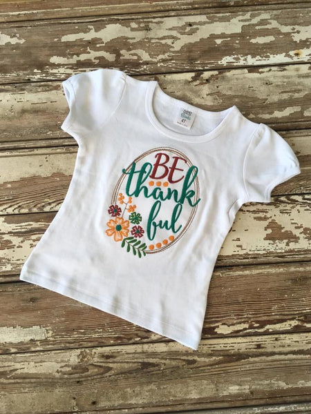 Be Thankful Applique Shirt