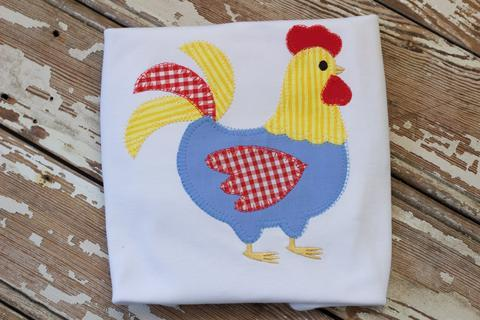 Boys Chicken Applique Shirt