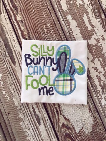 Boy'S Silly Bunny Applique Shirt