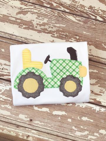 Boys Tractor Applique Shirt
