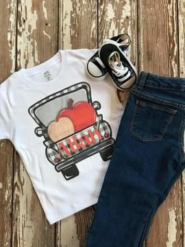 Buffalo Plaid Fall Truck Printed Tee