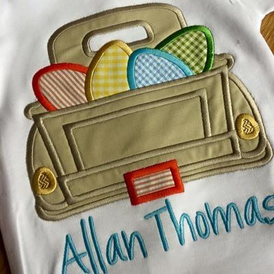Easter Truck Applique Shirt