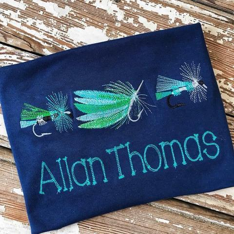 Fishing Lure Applique Shirt