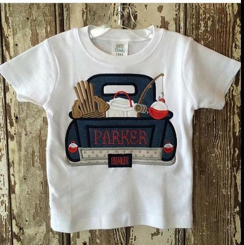 Fishing Truck Applique Shirt