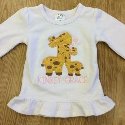 Giraffes Applique Shirt