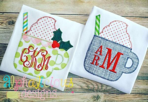 Girls Christmas Coco Applique