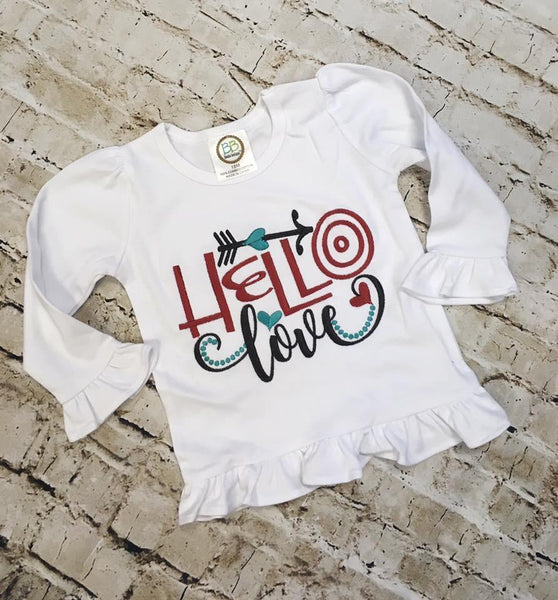 Hello Love Applique Shirt