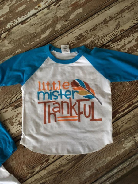 Little Mister Thankful Raglan
