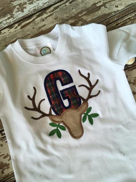 Oh Deer Boy Appliqué Shirt