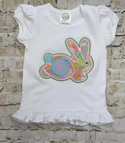 Paisley Bunny Applique Shirt