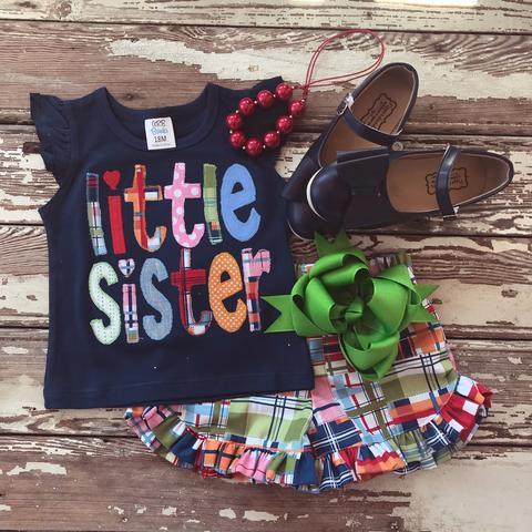 Plaid Big Sister Set