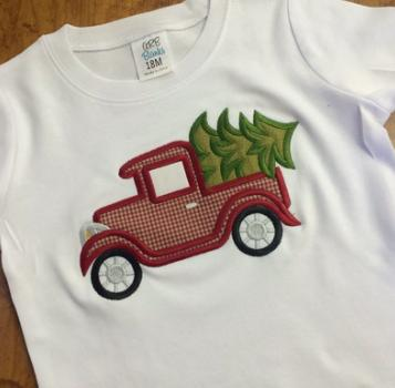 Vintage Truck Applique