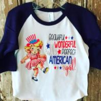 All American Girls Vintage Raglan