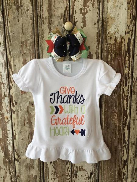 Give Thanks Applique Shirt
